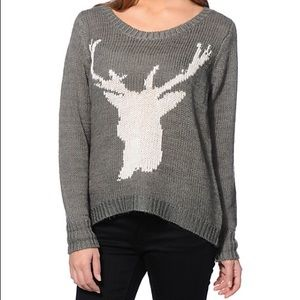 Billabong Nature's Callin Grey Deer Sweater Sz.S